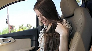 19 yo Sarah giving head in a car