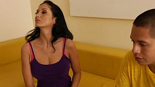 Ava catches David in her son's art studio