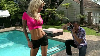 Sarah Jessie fucking herself with glassy dildo