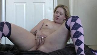 Feisty nipples in the hallway