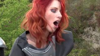 Redhead fucks her crusader