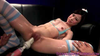 Tiny asian teen cutie toyed and facialized