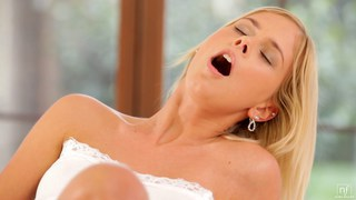 Nubile Films - Blonde self seduction