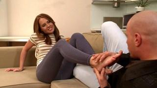 Worshipping Zuzana's feet