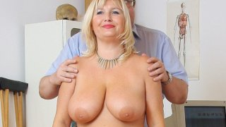 Natural big tits Milf vagina gyno clinic exam