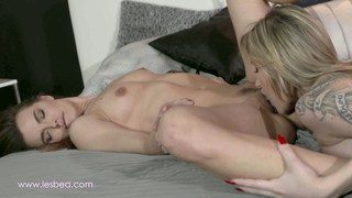 Discovering her wet pussy