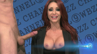 Monique Alexander sucking cock on live TV