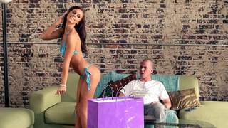 Whitney Westgate does a little strip show for her man