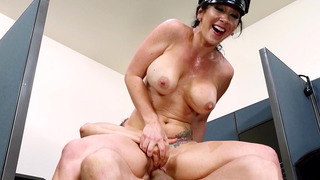 Security guard Jayden Jaymes fucked the hell out of his dong