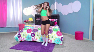Cassidy Klein dancing in her room and getting licked by her stepmom Farrah Dahl