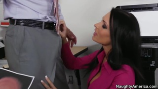 A blowjob at work