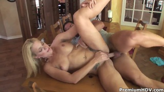 Heidi Mayne is pounding on big throbbing dick