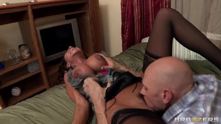 Ariella Ferrera with big boobs licked by Johnny Sins