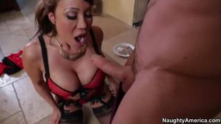 Cougar asian babe Ava Devina fucking