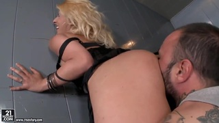 Ivory Bell fucks hardcore with dirty prisoner