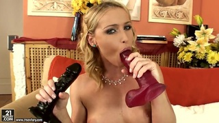Wonderful sexy Kathia Nobili showing her naughty solo fun with dildos!