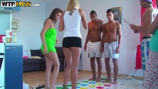 Ivana Sugar and her friends are playing sexy twister