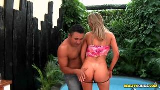 Loupan is fucking at the pool with Pryscila Brandao
