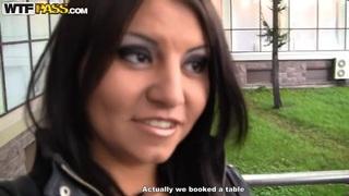 Malika plays dangerous pool game without panties