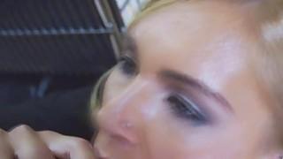 Blonde MILF looking so sexy in her office attire
