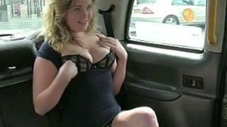 Busty amateur blonde nailed in the cab