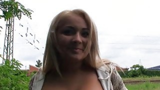 Big tits Eurobabe Lana nailed for money