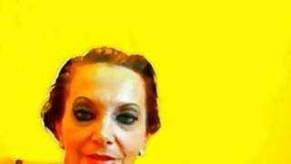 Amateur brunette granny on cam