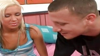 Young Teen Blonde Ride On A Big Coc