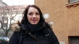 Hungarian cutie Felicia fucked for cash