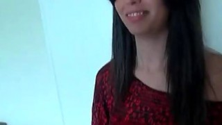 POV blowjob scene with teen brunette latina hottie