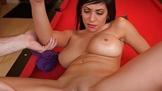 Delicious pussy drilling for a breasty darling