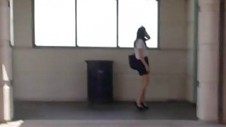 Teen challenges enornous cock