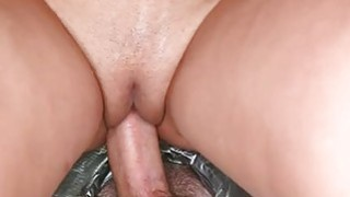 Hottie is hungry for facial cumshot delights