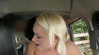 Chubby blonde babe banged by fake driver