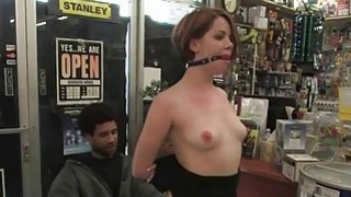 Bounded chick receives a merciless cunt thrashing