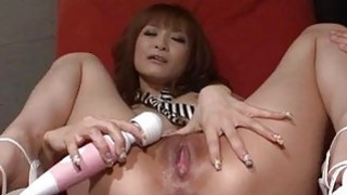 Misa Kikouden loves cracking her pussy in harsh ways