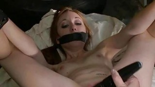 Unfathomable and evil pussy flogging for a whore