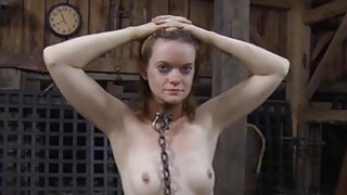 Gagged beauty with clamped nipps acquires wild joy
