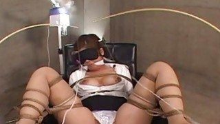 Asian office worker submited to a precise bdsm ses