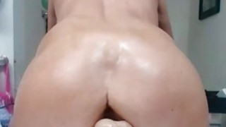 Horny milf dildo riding At home
