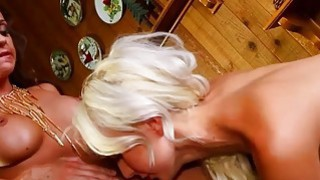 Ultra babes kissing loving and bottom dildoing