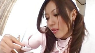 Rimu Himeno gives a headfucking and foot job to horny patient