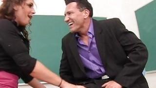 Teacher Shows Star Pupil How to Handjob