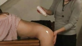 Lesbian ass massage with Zuzinka