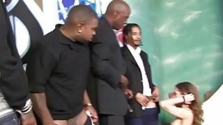 Riley Reid sucks many black cocks