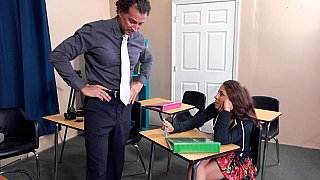 Beautiful student admired and fucked by teacher