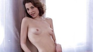 Beauty with new body is masturbating before camera