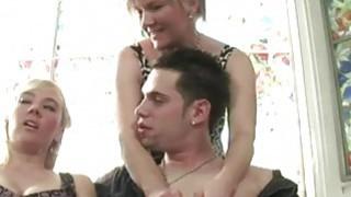 MILF deepthroat cock during threesome