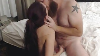 Girlfriend deep throats a cock on cam