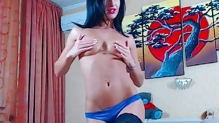 Brunette Teen In Sexy Blue Lingerie